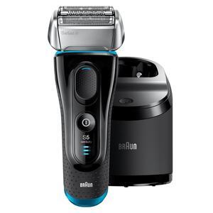 Braun Series 5 5190cc Elektrischer Rasierer mit Reinigungsstation, Rasierapparat Wet und Dry, Wiederaufladbarer Elektrorasierer, Schwarz/Blau