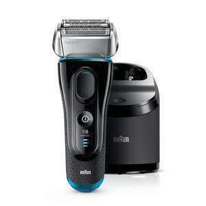 Braun Series 5 5190cc Elektrischer Rasierer Schwarz/Blau + Reinigungsstation und zwei Nachfüllpackungen