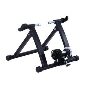 HOMCOM Rollentrainer mit Luftwiderstandsbremse schwarz 47,2 x 54,5 x 39,1 cm (LxBXH)   Rollentrainer Heimtrainer Fahrrad Rennrad Trainingsgestell