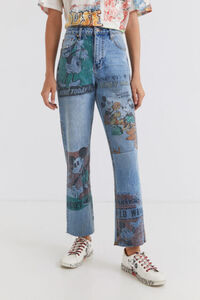 Straight Cropped Jeans Micky Maus