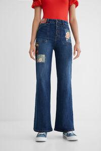 Jeans Wide Leg Patch