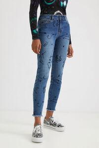 Knöchellange Skinny Jeans Cosmic
