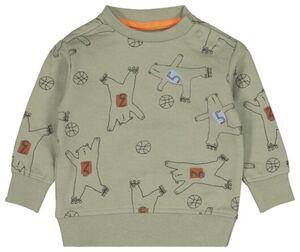 HEMA Baby-Sweatshirt, Bären Olivgrün