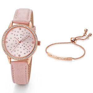 Pacific Prime Damenuhr mit Armband, Rose Stars