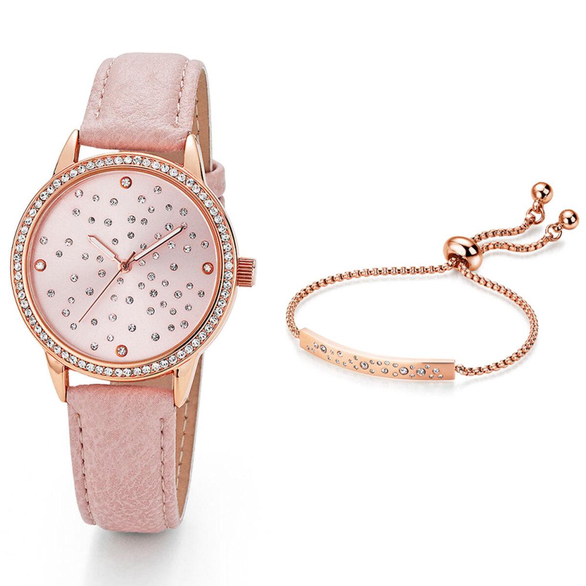 Bild 1 von Pacific Prime Damenuhr mit Armband, Rose Stars