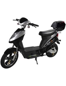Elektroroller »City-Star«, max. 45 km/h, Reichweite: 50 km, silberfarben/schwarz