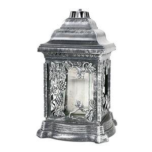Grablaterne mit Öllicht 26cm Silber