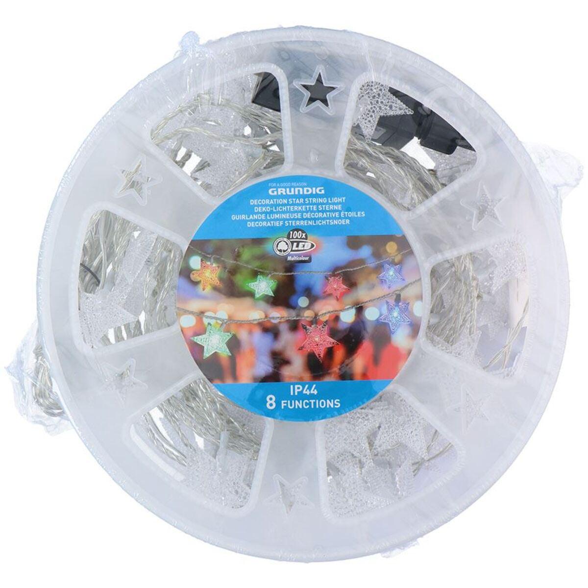 Bild 2 von Grundig Deko-Lichterkette Sterne 13,9m 100 LEDs Bunt