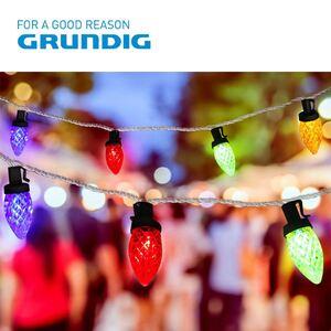 Grundig Deko-Lichterkette Zapfen 13,9m 100 LEDs Bunt