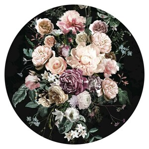 Komar Dots Fototapete rund Enchanted Flowers