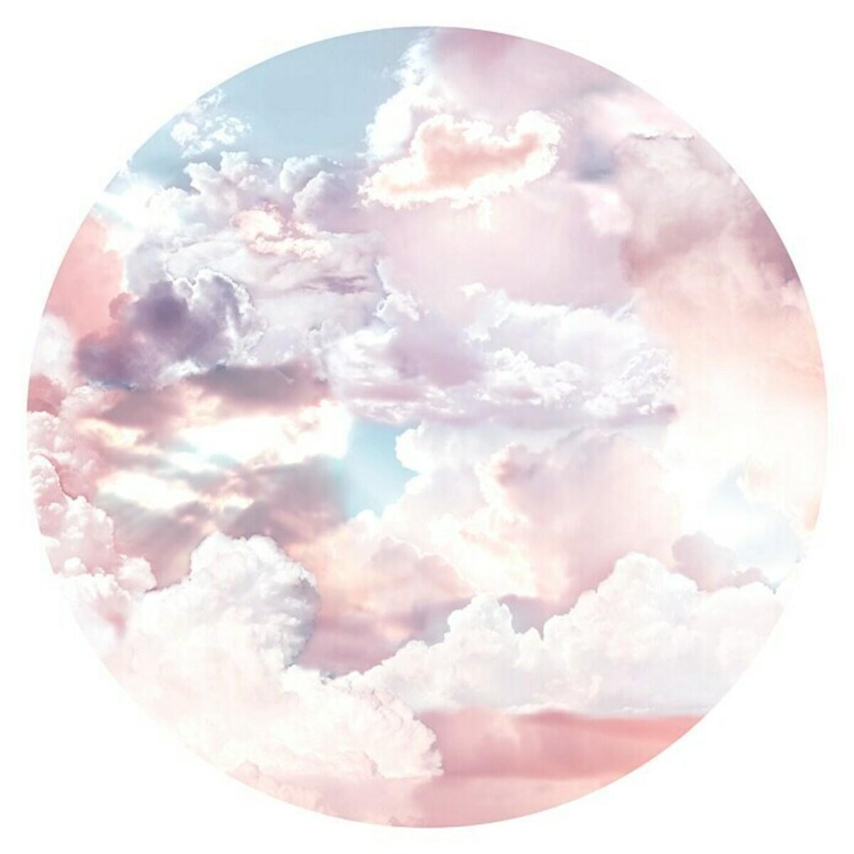 Bild 1 von Komar Dots Fototapete rund Candy Sky