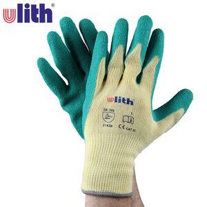 ulith Arbeitshandschuhe mit Latex-Beschichtung Größe L Gelb/Grün