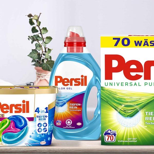 Persil Waschmittel Pulver/Flüssig 70 WL oder Discs 52 WL, versch.  Sorten, jede Packung/Flasche 2 x Persil kaufen - 1 x Perwoll à 16/18/20 WL gratis dazu!