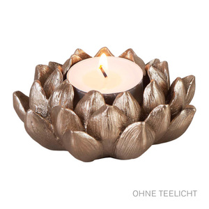 ProVida Lotus Teelichthalter Gold