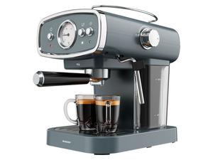 Silvercrest Kitchen Tools Espressomaschine anthrazit, mit Siebträger