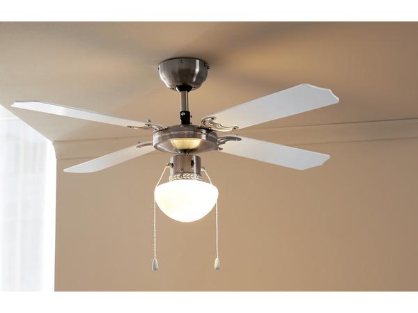 LIVARNO HOME® Deckenventilator mit LED-Leuchte
