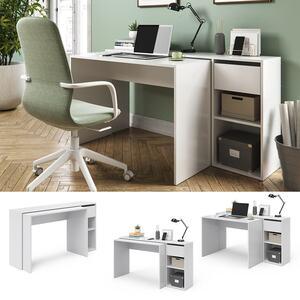 Vicco Schreibtisch Ben Weiß Computertisch ausziehbar Arbeitstisch Bürotisch