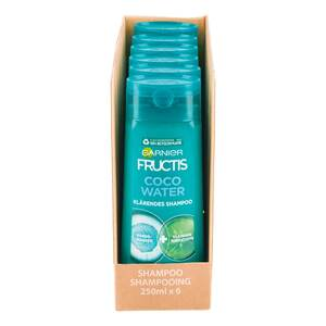 Fructis Shampoo FATS Coco Water 250 ml, 6er Pack