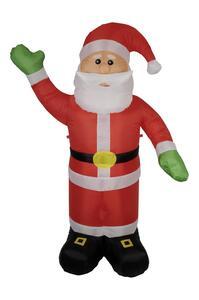 Aufblasbare LED-Dekofigur Weihnachtsmann, ca. 180cm