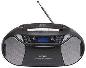 Denver Boombox mit CD-Player DAB+ UKW Radio Kassettendeck USB MP3 AUX Denver TDC-250