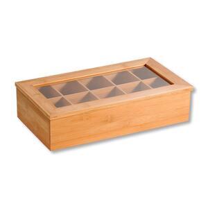 KESPER Teebox Tee-Box mit 10 Fächern gefertigt aus em Bambus, 58901
