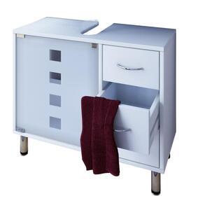VCM Waschtischunterschrank Darola  58 x 67 x 30 cm , Farbe Weiß