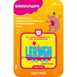 tigercard Kinderliederzug: Kindergarten- und Mitmachlieder – Lernen