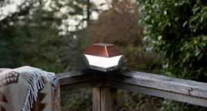 Solar Kupfer Zaunpfostenleuchten