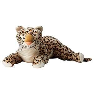 MORRHÅR Stoffspielzeug, Leopard/beige