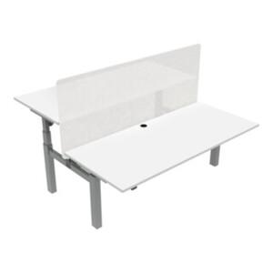 STIER Elektrisch höhenverstellbarer Team-Schreibtisch 501-88 180x80cm Weiß mel. 65-125cm