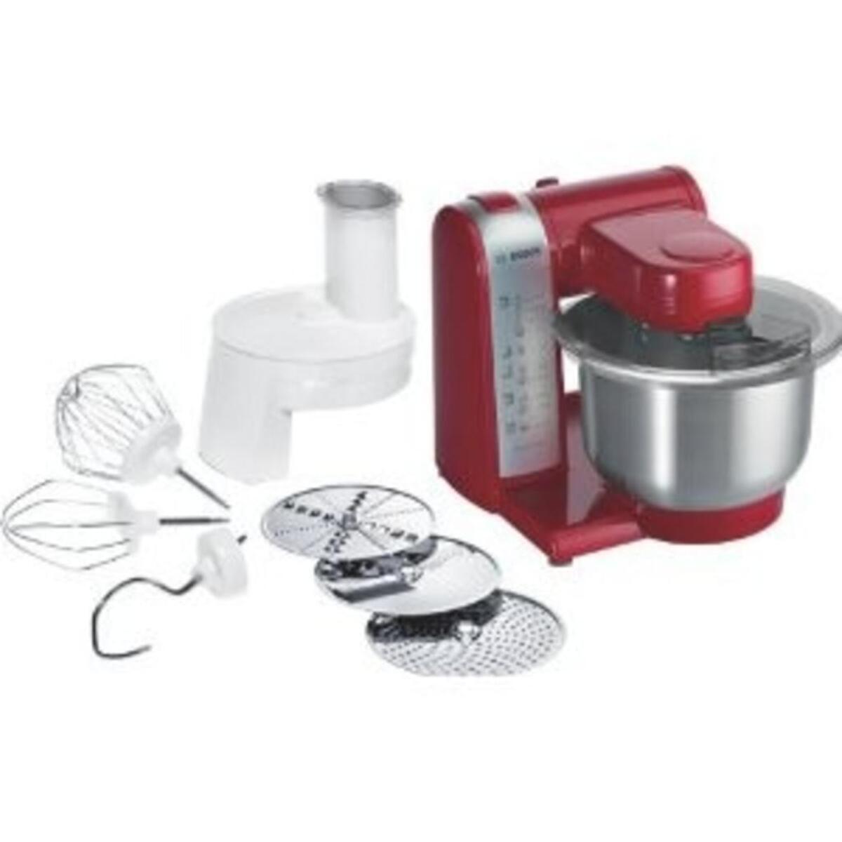Bild 2 von Bosch MUM 48R1 Multifunktions Küchenmaschine rot/silber