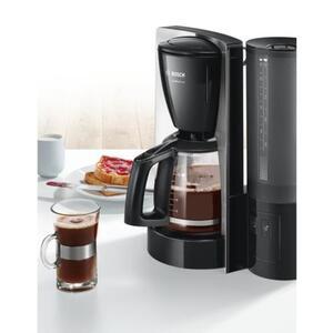 Bosch TKA6A643 ComfortLine Filterkaffeemaschine Kunststoff mit Edelstahl Edelstahl, schwarz