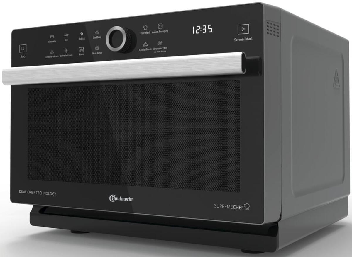 Bild 1 von Bauknecht MW 339 SB Mikrowelle, DualCrisp & CrispFry, Automatikprogramme, Dampfgarfunktion, Brot auftauen