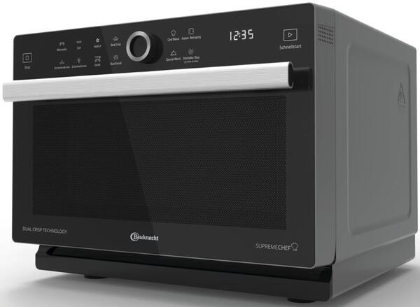 Bauknecht MW 339 SB Mikrowelle, DualCrisp & CrispFry, Automatikprogramme, Dampfgarfunktion, Brot auftauen