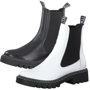 Tamaris Damen Stiefeletten Leder Chelsea Boots 1-25455-27, Größe:40 EU, Farbe:Schwarz