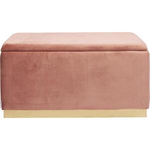 Kare-Design Hockerbank samt rosa  Cherry Storage Rose  Textil
