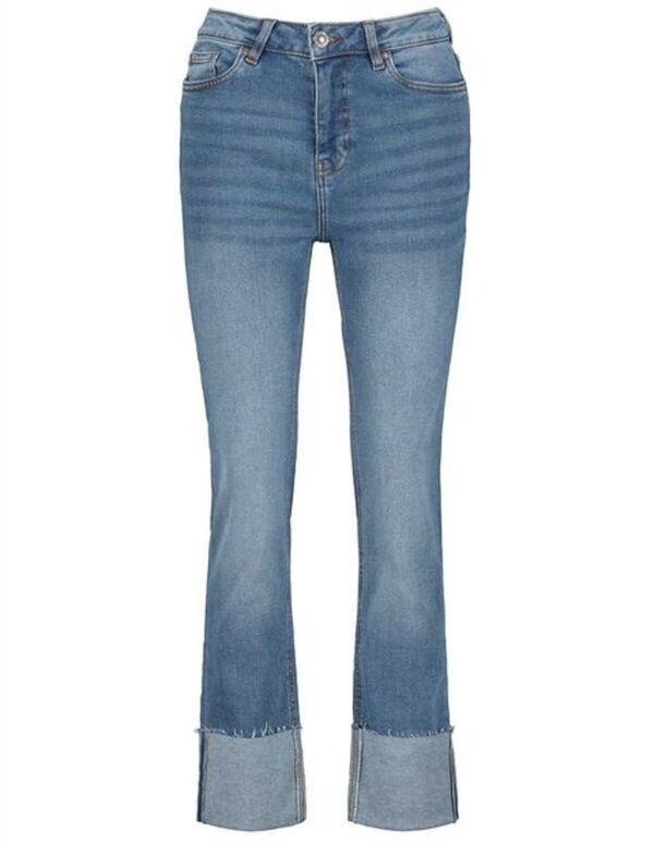 Damen Jeans - Fixierter Beinumschlag