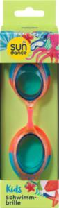 SUNDANCE Schwimmbrille für Kinder Orange-Blau mit Glitzer