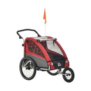 Homcom 3in1 Kinderwagen auch als Jogger und Fahrradanhänger, Rot