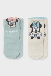 C&A Multipack 2er-Minnie Maus-Baby-Socken, Türkis, Größe: 10-11