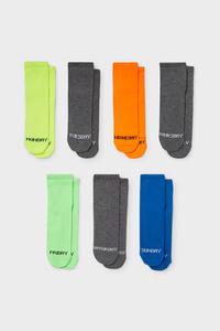 C&A Multipack 7er-Socken, Grau, Größe: 31-33