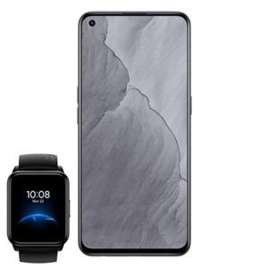 "Realme GT Master 128 GB Voyager Grey inkl. Realme Watch 2 Black [16,33cm (6,43"") Super AMOLED Display, Android 11, 64MP Triple-Kamera]"