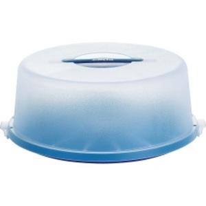 EMSA Tortenbehälter mit Haube TORTENBUTLER BASIC Ø33 Blau/Transluzent