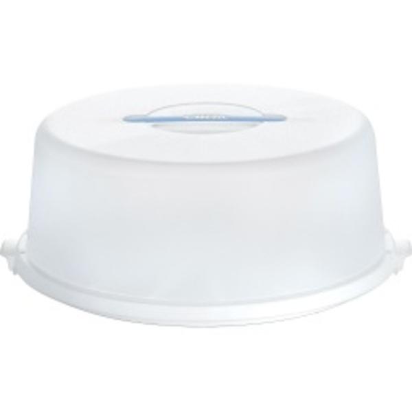 EMSA Tortenbehälter mit Haube TORTENBUTLER BASIC Ø33 Weiß/Transluzent