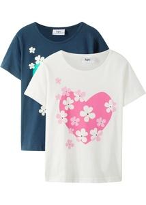 Mädchen T-Shirt (2er Pack) aus Bio-Baumwolle