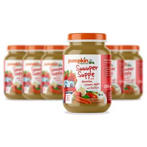 Pumpkin Organics BIO Suppe Gemüse & Linsen, 6er Pack