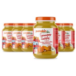 Pumpkin Organics BIO Suppe Kürbis & Süßkartoffel, 6er Pack
