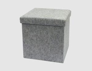 Sitzhocker eckig grau