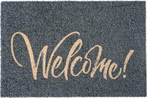 Fußmatte »Bente«, my home, rechteckig, Höhe 5 mm, mit Spruch, In- und Outdoor geeignet, waschbar