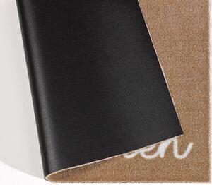 Fußmatte »Willkommen Herz«, Zala Living, rechteckig, Höhe 7 mm, Schmutzfangmatte, mit Spruch, rutschhemmend beschichtet, waschbar